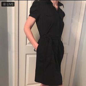 WORTHINGTON   Black Midi Dress w/pockets Size 10